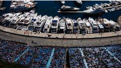 В Монте Карло по трибуните се събират по-малко зрители, отколкото по яхтите, но това не притеснява организаторите
