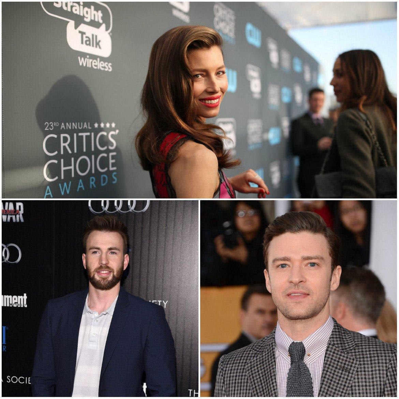 Преди това се е срещала не с кого да е, а с Крис Евънс, който впоследствие ще стане известен с ролята си на Стив Роджърс/Капитан Америка (долу вляво) в комиксовите филми на Marvel. Двамата в продължение на няколко години имат непостоянна връзка, която в крайна сметка приключва през 2006 г.