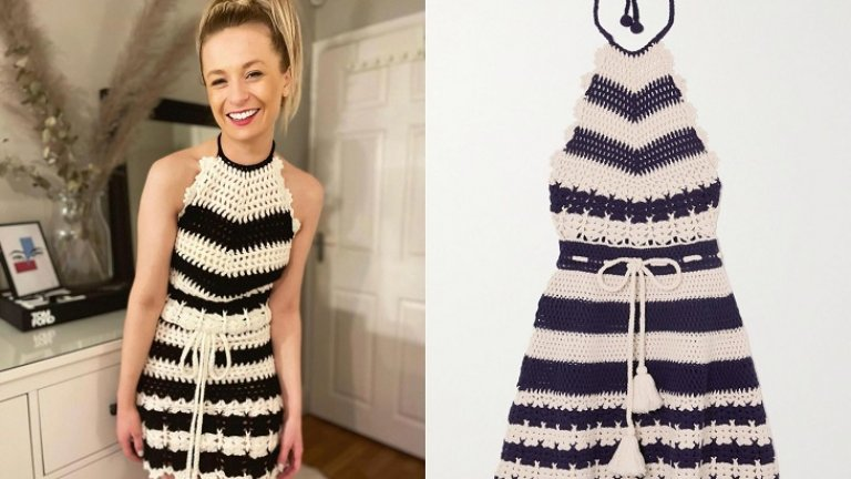 Да се научиш да плетеш в пандемията и да направиш рокля за 1750 паунда от остатъчна прежда