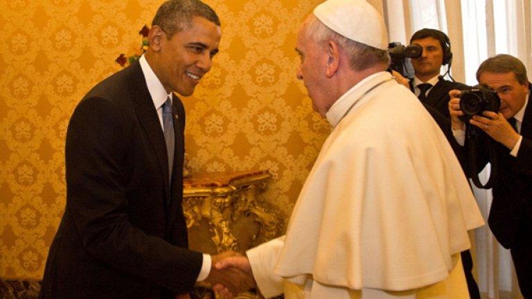 Обама е деветият американски президент, който е на официална визита в Светия престол