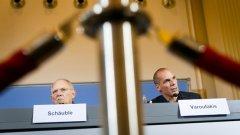 Волфганг Шойбле и Янис Варуфакис не прикриват разминаването между позициите си за разрешаването на тежката финансова криза в Гърция