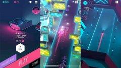 Beat Racer (безплатна, iOS/Android)  Наслада за окото и ухото: така най-лесно можем да опишем тази автомобилна игра, в която целта е да стигнете до финалната линия, преодолявайки различни препятствия на фона на страхотна музика. Сливането на движенията ви с ритъма е ключово за успеха, а ярката неонова визия не престава да поразява ниво след ниво. Beat Racer е направена с много любов, напълно безплатна е и не изисква нито стотинка, за да продължите напред. А страхотният й саундтрак ще ви кара да се връщате към нея отново и отново, дори когато отдавна сте минали дадено ниво.