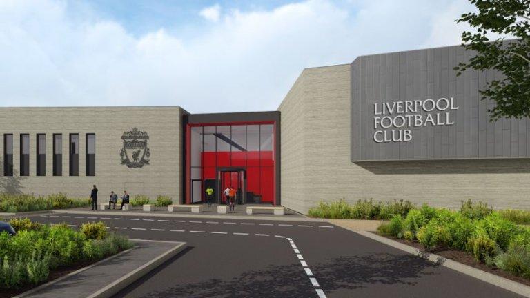 Новата база на Ливърпул: Произведение на изкуството с отпечатъка на Клоп