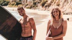 """""""7-кратна световна шампионка и фен"""", написа Гришо под Instagram поста си със сърфистката"""