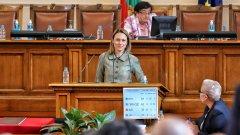 Депутатите избираха между нея и Кристиян Вигенин