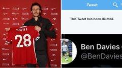Един от новите в Ливърпул трябваше да трие обиден туит за скаузърите