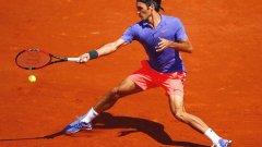 Федерер донесе 1000 паунда на уелсец, но той не успя да си ги вземе.