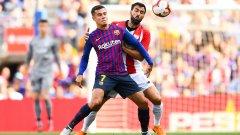 Докато Меси беше на скамейката, нещата не вървяха никак добре за Барселона, въпреки че останалите звезди като Коутиньо, Суарес, Дембеле и Ракитич бяха на терена