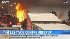 Напрежението между традиционните таксита и Uber премина към физическа агресия, като през последните дни няколко клиенти и шофьори на Uber бяха нападнати в Лион, Ница и Страсбург.