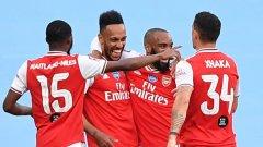 "Арсенал шокира Сити на ""Уембли"" и е на финал за ФА Къп!"