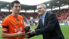 Мицански получи наградата за футболист на месец март в полското първенство