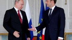 Руският президент Владимир Путин очевидно предпочиташе Марин льо Пен да застане начело на Франция
