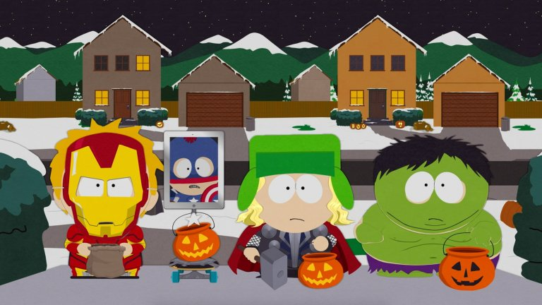 """""""Саут Парк"""" (South Park)  Картман, Кени, Кайл и Стан носят сарказъм с пълни шепи, ако може да погледнете от ироничната страна на църквата, Христос, сциентолозите, семейните празници и холивудските знаменитости... и изобщо всичко. Шегите в анимацията не са цензурирани, епизодите не са подходящи за деца, а South Park в крайна сметка е препоръчителна за телевизионен маратон отново и отново, стига да не приемате острия хумор искрено и лично."""