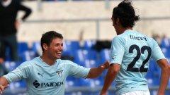 Нападателите на Лацио Мауро Сарате и Серджо Флокари отбелязаха двата гола срещу Наполи