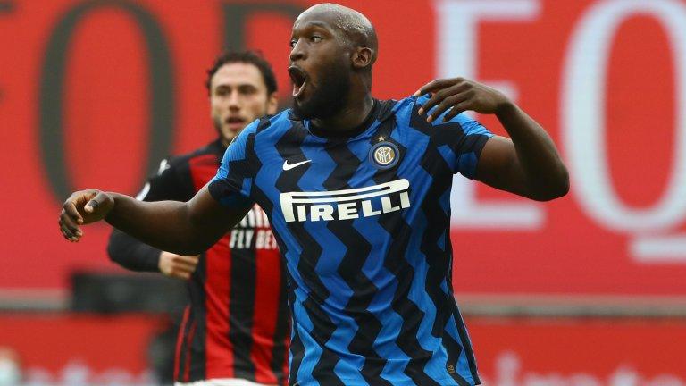 Лукаку е първият футболист с гол в пет последователни дербита на Милано и вече преследва рекорда на Шевченко