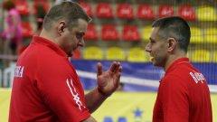 Радостин Стойчев и Владимир Алекно отново ще застанат един срещу друг - този път в четвъртфиналите на Евроволей 2011