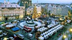 Коледен базар в Стара Прага