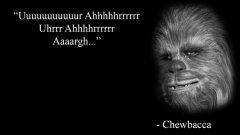 """Мотивиращ цитат от Чубака - също толкова съдържателен, колкото всички останали """"мъдри мисли"""" във Facebook."""