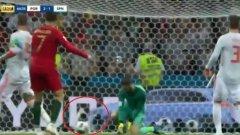 Колата ли излъга и причини грешката на Де Хеа при гола на Кристиано? (видео)