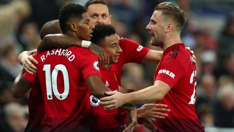 Юнайтед нанесе удара си в края на полувремето, а след почивката Де Хеа запази мрежата на отбора суха