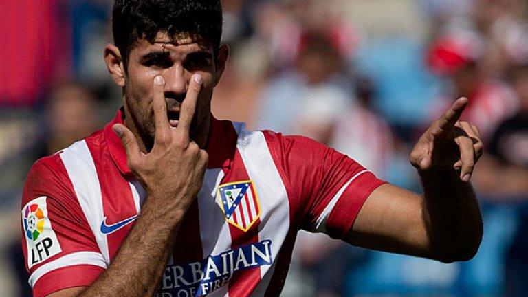 13. Диего Коща -  Голмайсторът на Атлетико е един от най-желаните   нападатели в света, а Юнайтед е сред многото   кандидати за него