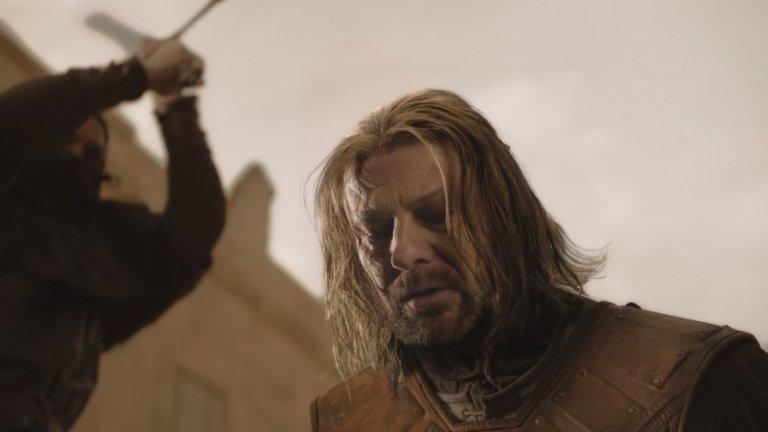 Game of Thrones, 2011 Game of Thrones със сигурност бележи важен момент в историята на телевизията. В годината, в която беше излъчен последният му сезон, няма как да не пптвърдим промените. Основна причина за това е епизодът Baelor. След като M*A*S*H показа, че положителните герои могат да умират, Game of Thrones направи още една крачка напред - показа, че и главният герой може да бъде обезглавен. Въпреки че почитателите на книгите знаеха какво предстои, девети епизод от първи сезон успя да втрещи дори и тях. Така шокът се превърна в новата движеща сила в телевизионните продукции.