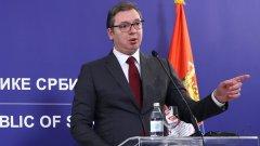 """""""Днес е важен ден за нашата страна и нашия народ"""", каза по време на церемонията в Господжинци сръбският президент"""