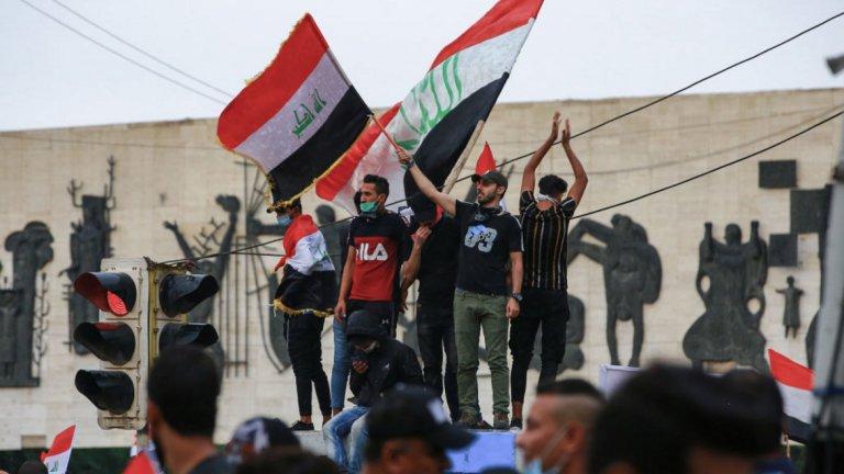 Демонстрациите се провеждат не само в столицата Багдад, но и в други големи градове