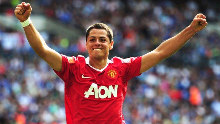Чичарито се върна в Юнайтед от Реал, но това не зарадва особено Ван Гаал