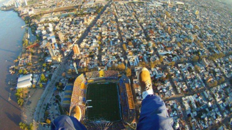 Въздушна снимка на стадиона на Росарио Сентрал.