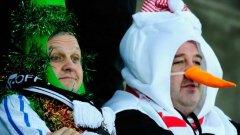 Радост за най-колоритните фенове - футболът в Англия не просто не спира по празниците, а влиза в безмилостна серия в рамките на десет дни
