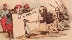 Обвиненията в шпионаж срещу френския капитан от еврейски произход Алфред Драйфус имат невероятен отзвук - те успяват да разделят обществото на Франция от края на XIX в. на две. Фактор е и средата - на сериозна медийна пропаганда, ширещ се национализъм и разрастващ се антисемитизъм.
