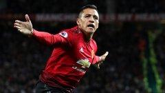 """Санчес успя да вкара само пет гола в 45 мача за повече от година и половина като играч на """"червените дяволи""""."""