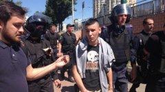 Това е вторият гей парад, организиран в Украйна, където хомофобията e често срещана