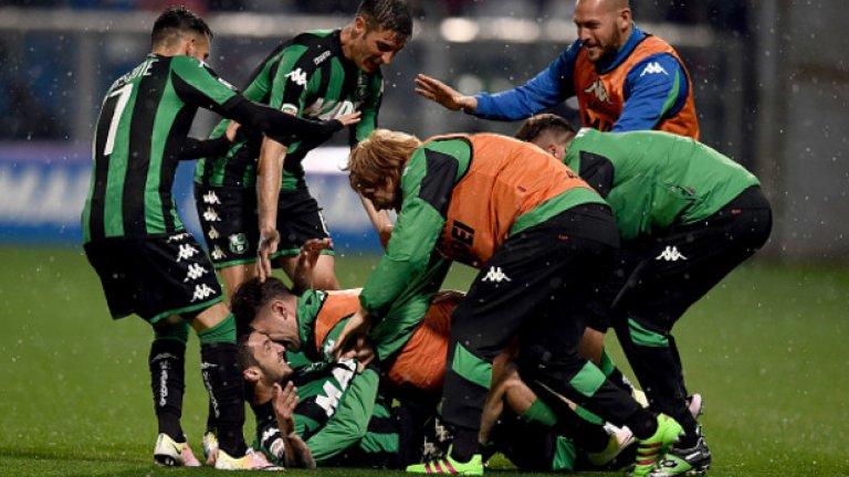 6. Сасуоло – 61 точки Сасуоло показа какво може да бъде постигнато с добра организация, стабилност, добър треньор и око за италиански таланти. Успя да победи и Милан в битката за топ 6.