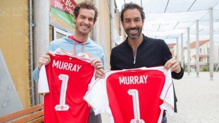 """Ето кои попаднаха в идеалния отбор (който няма вратар) """"артилеристи"""" за футбол на малки вратички на Анди Мъри..."""