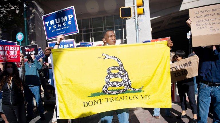 Про-Тръмп демонстранти във Филаделфия