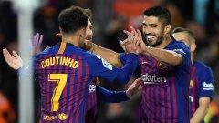 Суарес се отличи с два гола, а Коутиньо този път получи титулярно място и асистира за откриващия гол