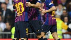 """Луис Суарес отново си правеше каквото иска срещу Реал, докато на отсрещната врата """"кралете"""" се скъсаха да пропускат, най-вече чрез Винисиус"""