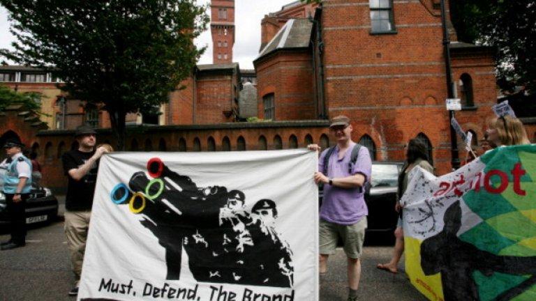 Срещу миналите Летни олимпийски игри в Лондон също имаше протести