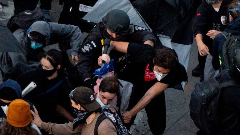Най-силно бе напрежението в Сиатъл. По данни на местната полиция около 60 полицаи са били ранени, а 47 участници в сблъсъците са били арестувани в града.