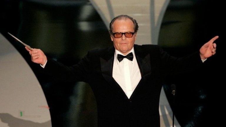 """Джак Никълсън е най-многократно номинираният актьор - общо 12 пъти от 1969 г. досега. Никълсън има три награди, колкото и Даниел Дей-Люис и Уолтър Бренан. Люис все пак е единственият, който е печелил три пъти в категорията """"Главна мъжка роля""""."""