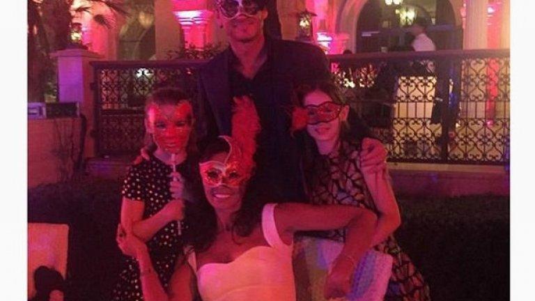 Франк Лампард със семейството си