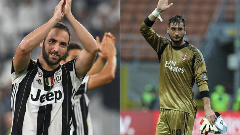 """Гонсало Игуаин и Джанлуиджи Донарума бяха сред големите герои на първия кръг в Серия """"А"""""""