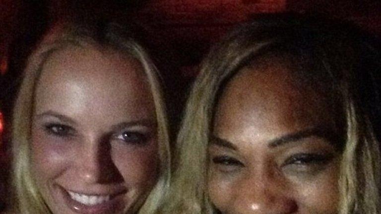 Серина и Каролине купонясват заедно след финала
