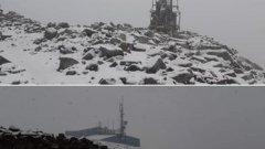 Мусала побеля от сняг в средата на юли
