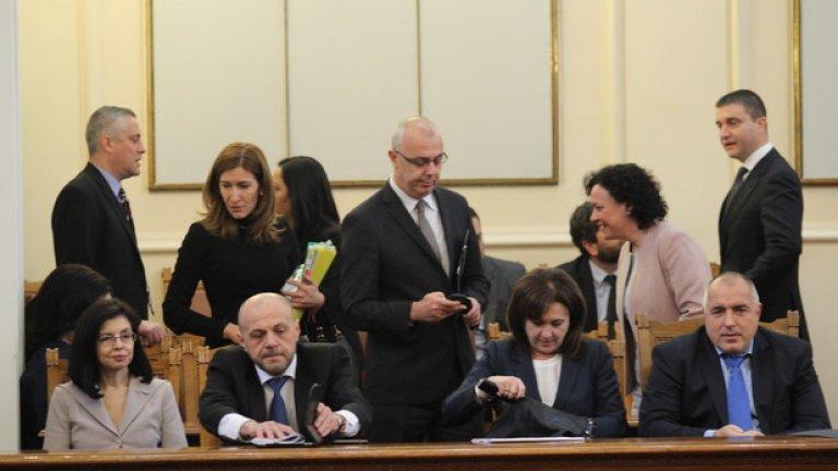 Веселин Вучков влезе за последен път в Народното събрание като министър на вътрешните работи.