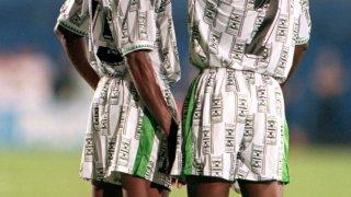 Новият екип на Нигерия може да е с хитов дизайн, но онзи от 1994 г. беше меко казано озадачаващ. В галерията си припомняме най-ужасното, с което са се обличали футболистите на световни финали