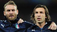 Пирло може и да остане на скамейката срещу България утре, но Даниеле де Роси най-вероятно ще играе