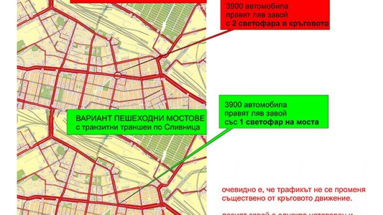 """Без """"Данаил Николаев"""", с или без кръгово, натовареността на Лъвов мост не се променя. Дори и броят светофари не се променя"""